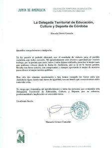 carta Delegación