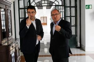 El presidente del Parlamento, Juan Pablo Duran, se reune con el