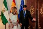 Sevilla 09-06-2015 Susana Diaz, recibe a Juan Marin, de Ciudadanos Foto: Manuel Olmedo